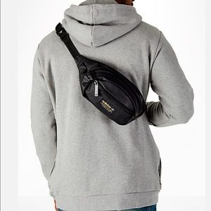 Handbags - Adidas black leather Fanny pack